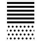 Schwarze Streifen/Punkte 1