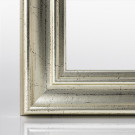 Doppelglas-Bilderrahmen ATHEN Silber Antik 15 x 15 cm