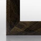 Bilderrahmen RIA Schwarz Gold gebürstet 15 x 15 cm