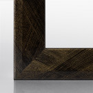 Bilderrahmen RIA Schwarz Gold gebürstet 15 x 21 cm (DIN A5)