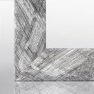 Bilderrahmen RIA Schwarz Weiß gebürstet 15 x 15 cm
